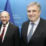 Bulgarian MEP Ivaylo Kalfin meets Mr Swoboda and Mr Schulz (ROUNDUP)