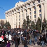Pro-Russia activists block office of governor in Donetsk