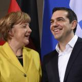 French, German leaders hold talks with Greek PM in Riga