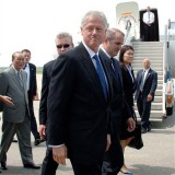 Daily American: Bill Clinton arrives in Israel for Peres funeral