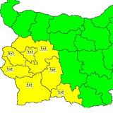 NIMH: Yellow code issued for 7 Bulgarian districts over intense rain