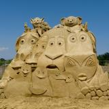 5,000 tons of sand used in Sand Sculptures Festival in Bulgaria's Burgas