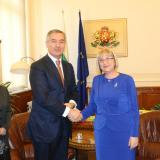 Bulgaria parliament chair meets with Montenegro PM