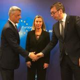 Picture: Top ChannelMogherini: Thaci and Vucic agreed to reconvene in a few weeks' time