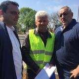 PM Boyko Borisov, Minister Ivaylo Moskovski inspected the largest bridge over Maritsa River
