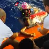 Capsized boat horror caught on camera