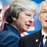The Daily Express: BREXIT CONUNDRUM: May caught in CATCH 22 after last-ditch bid to please Rees-Mogg AND EU