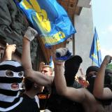 10,000 Ukrainians stage protest rally in Lviv