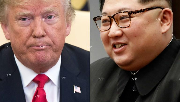 AFP Trump leaves hotel for historic summit with Kim