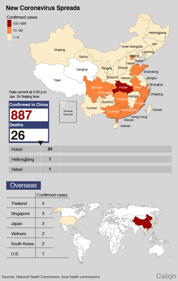 New coronavirus spreads in China. January 24, 2020