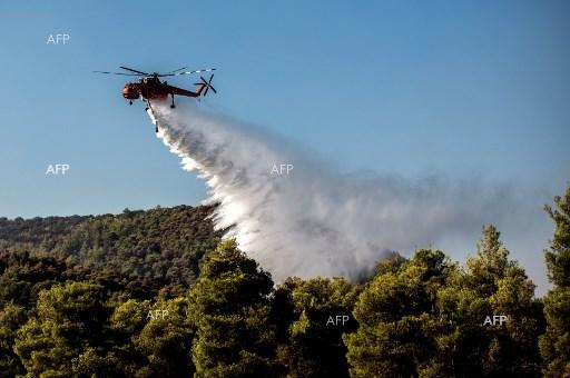 Reuters: Fire rages on Greece's Evia, threat to people averted