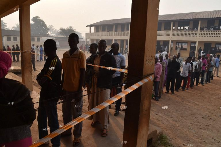 Central African Republic holds parliamentary, presidential elections.