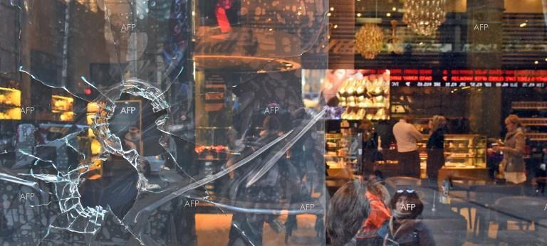 Lindt cafe in Sydney target of another attack, after armed man took 17 people hostages last December.