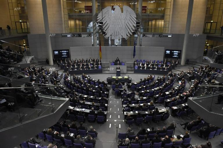 German President Joachim Gauck delivers a speech before the lower house of German parliament on the occassion of the 70th anniversary of the liberation of Auschwitz.