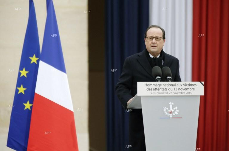 France holds service to commemorate victims of November 13 massacre.