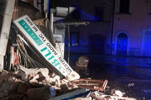 Series of earthquakes hit central Italy. October 27, 2016.