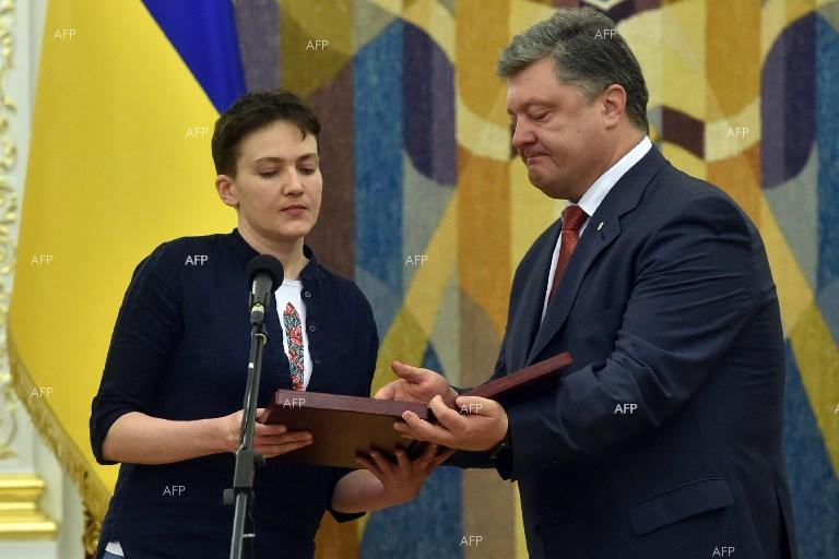 Nadiya Savchenko returns to Ukraine.