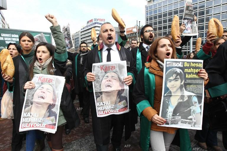 Thousands of people honour the memory of Berkin Elvan in Ankara. March 12, 2014.