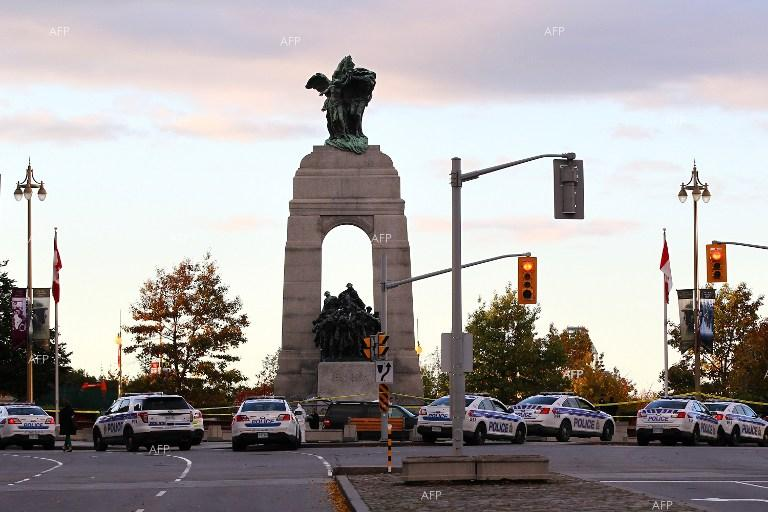 Military memorial in Ottawa, Canada.