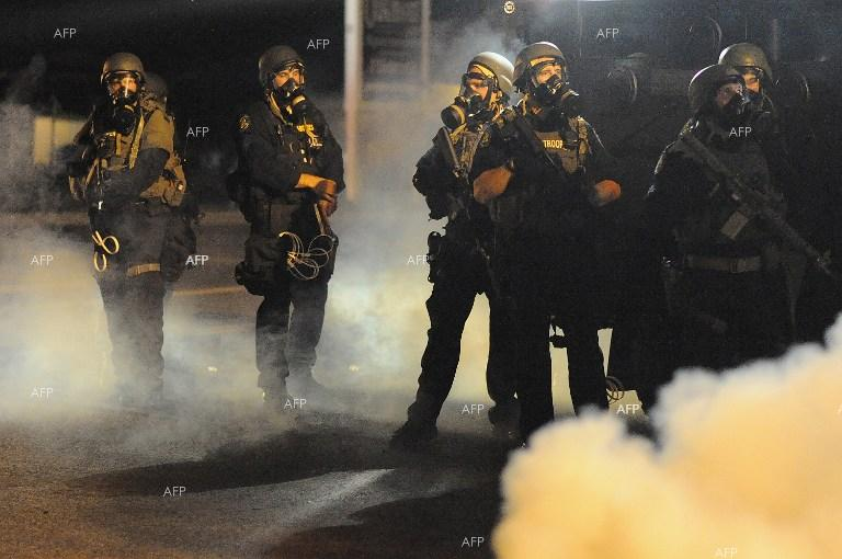 Clashes in  in Fergusson, Missouri.