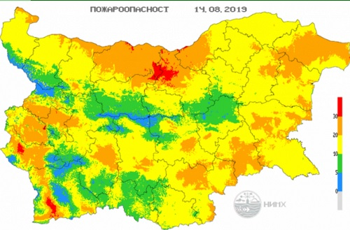 NIMH: Warning for extreme forest fire danger in place for 7 Bulgarian regions