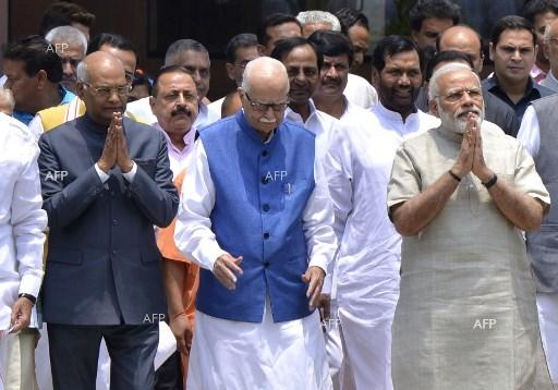 Ram Nath Kovind (first left) is elected President of India - July 20, 2017;