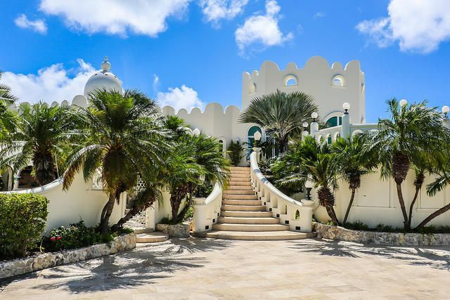 The castle of Bulgarian Countess Nadia de Navarro-Farber in the Virgin Islands is on sale. February 18, 2020