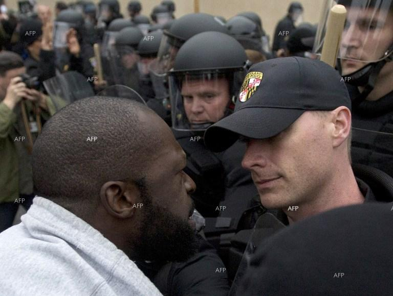 Tension in Baltimore over the death of a black man in police custody.