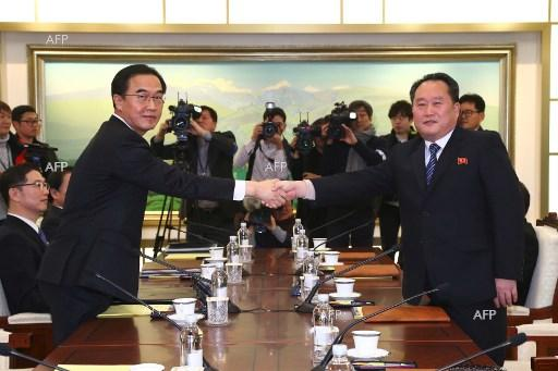 North and South Korea held talks to ease tensions on the peninsula. January 9, 2018;