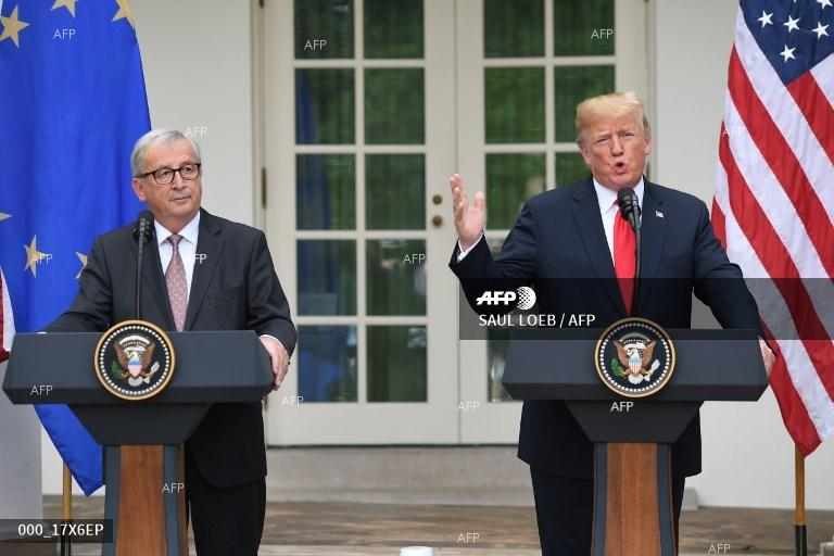 European Union  and United States  kiss and make up on trade