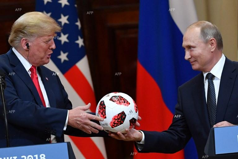 Donald Trump and Vladimir Putin, joint press conference. July 17, 2018;