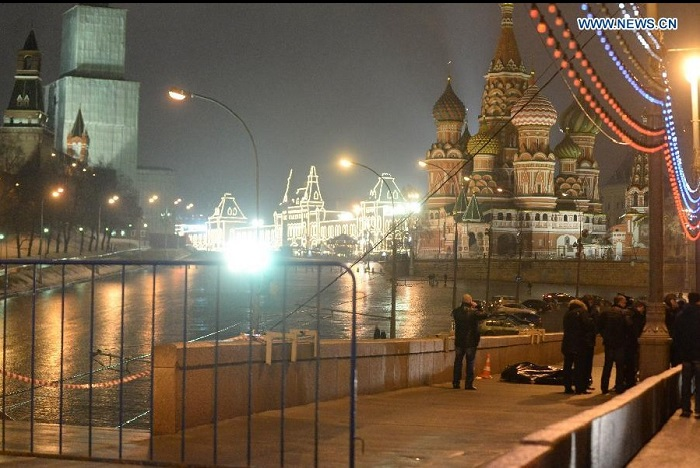 Russian oppositional leader Boris Nemtsov murdered in downtown Moscow.