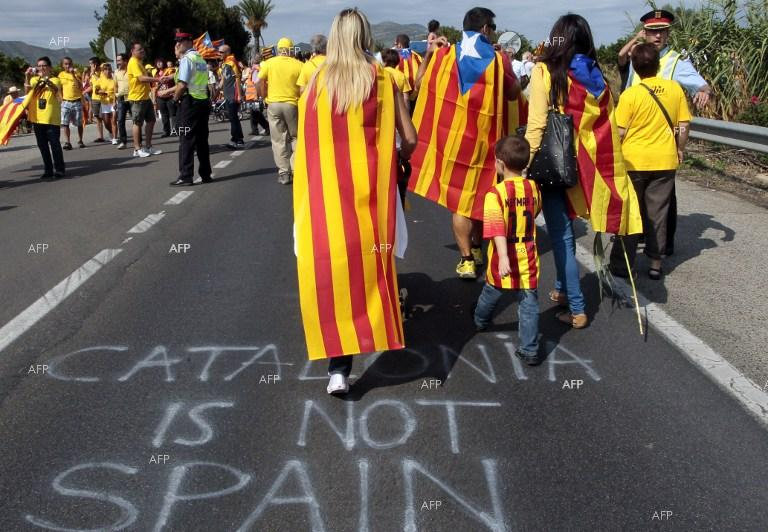 AFP: Catalans march in Brussels to 'wake up Europe'