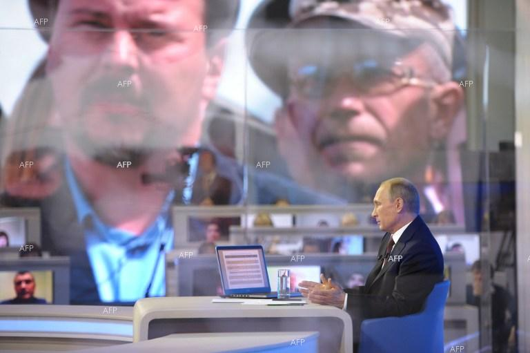 Russian President Vladimir Putin holds an annual televised question and answer session.