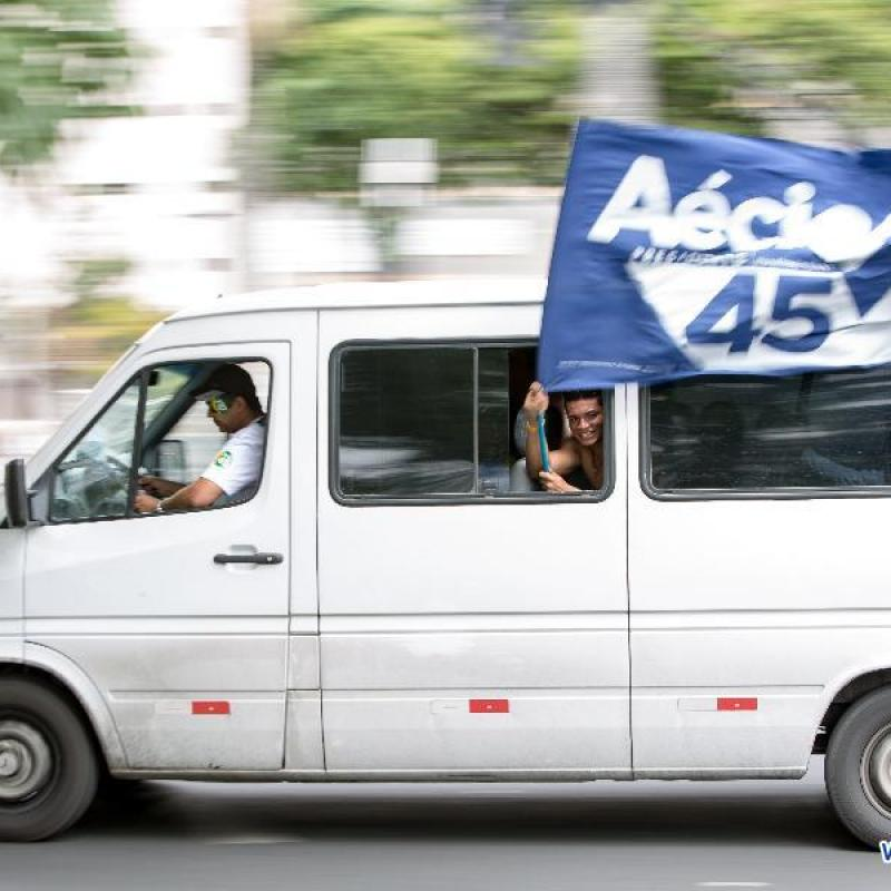 Aecio Neves. Presidential elections in Brazil. October 26 2014.