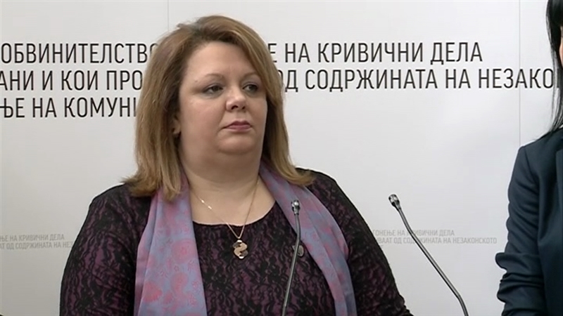 Special Prosecutor Katica Janeva testifies in Racket case. August 20, 2019