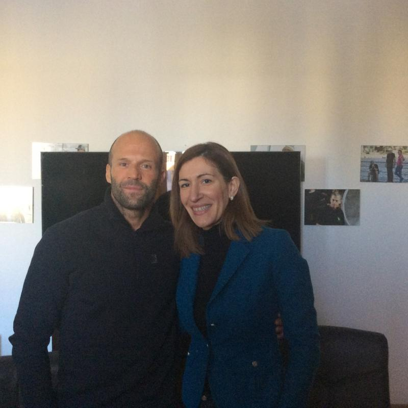 Bulgarian Minister of Tourism Nikolina Angelkova met with movie star Jason Statham.