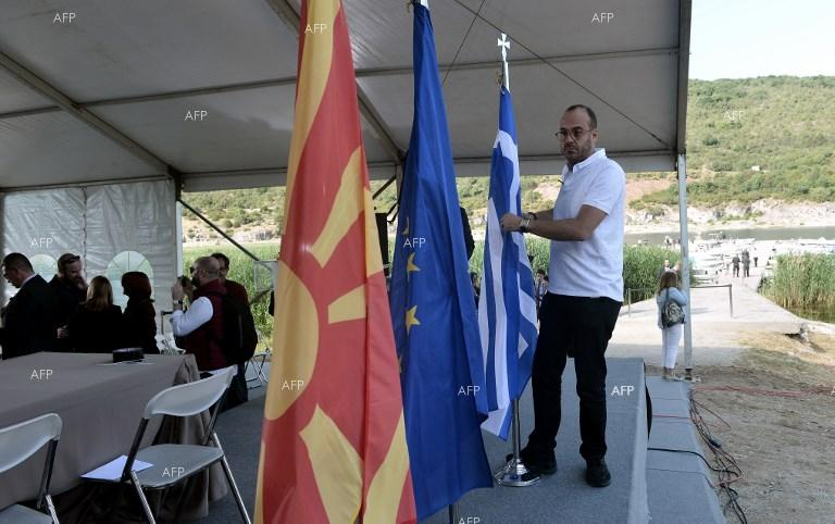 Preparations for the signing of name deal in Psarades between Macedonia and Greece. June 17, 2018;