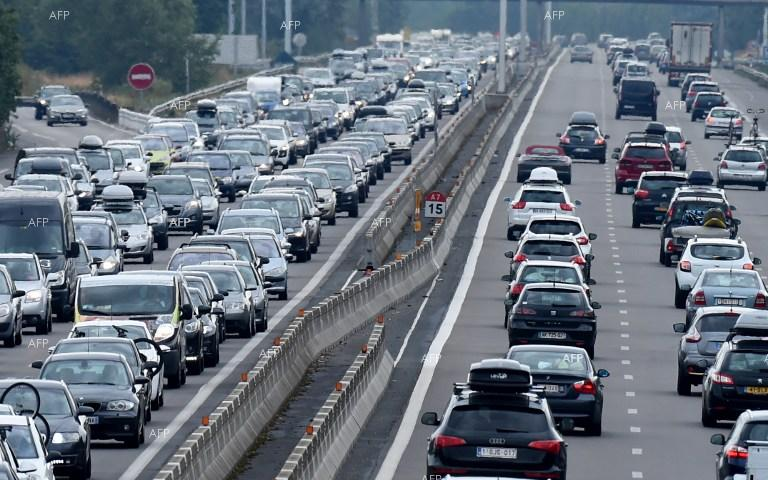 More than 600 km of traffic jams in France.