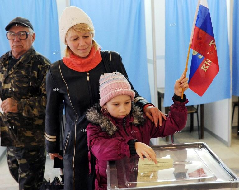 Referendum in the Autonomous Republic of Crimea.