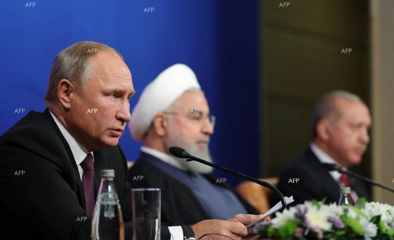The tripartite summit between the presidents of Russia, Iran and Turkey in Tehran. September 7, 2018
