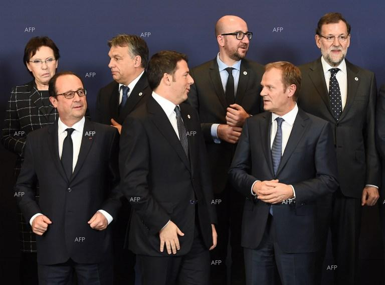 The EU leaders meet in Brussels.