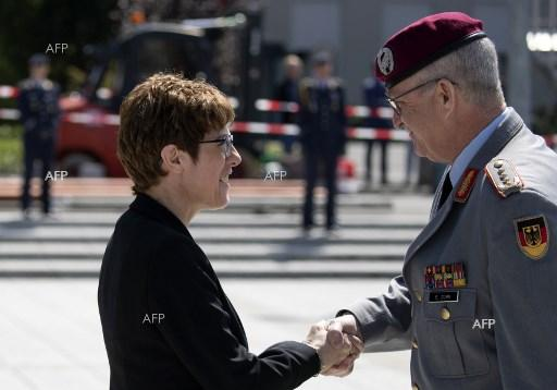 Leader of CDU, Annegret Kramp-Karrenbauer, appointed Federal Minister of Defence. July 17, 2019