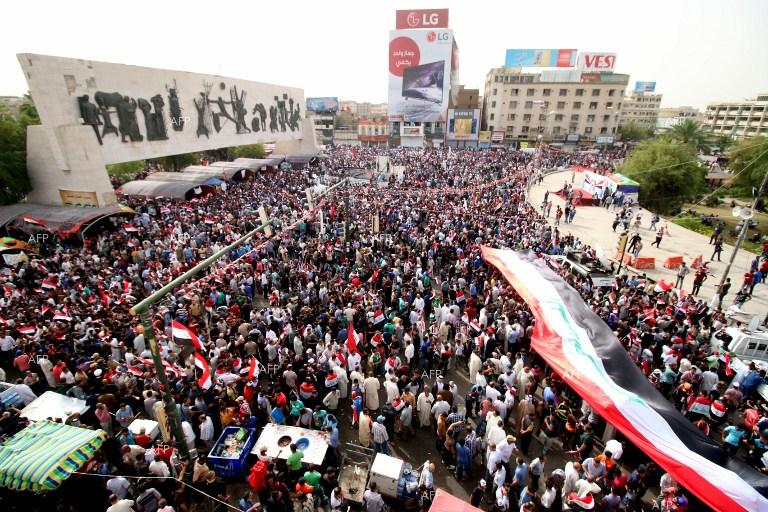 Thousands of Iraqis rally against government, Iran and US