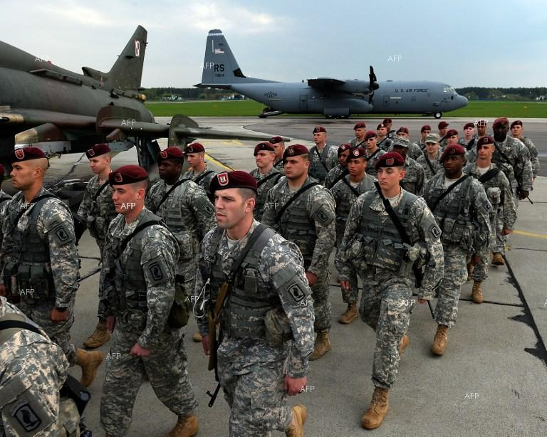 U.S. troops arrive in Poland at the background of the Ukrainian crisis.