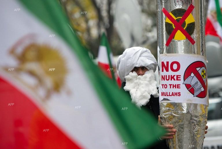 Protest rallies staged during Iran nuclear talks in Vienna.