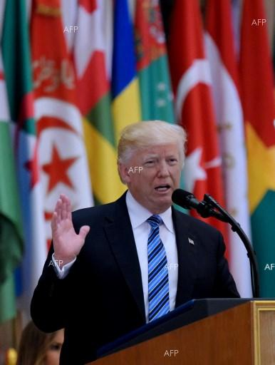 US President Donald Trump delivers historic speech to leaders of dozens of Muslim countries in Riyadh. May 21, 2017