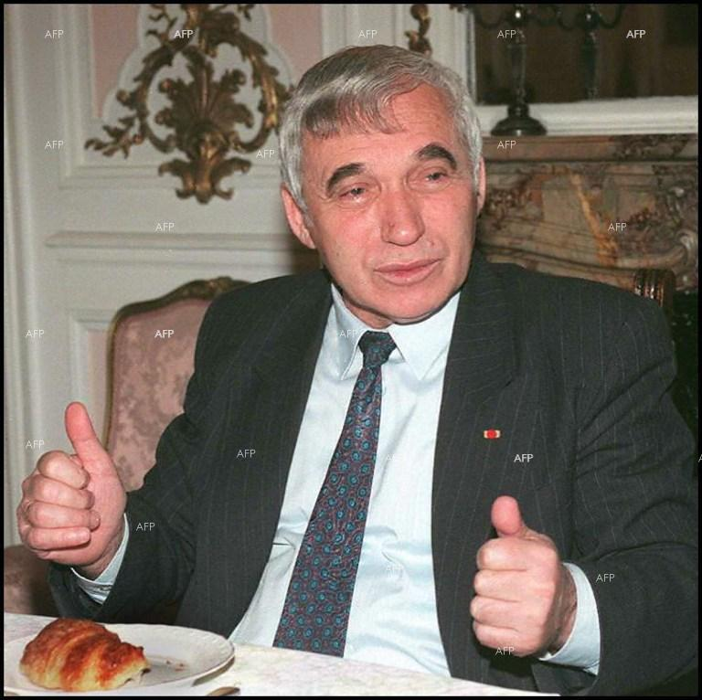 January 10, 1997 - Bulgarian president Zhelyu Zhelev at the Embassy of Bulgaria in Paris.