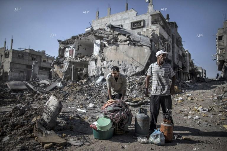 Damages in the Gaza Strip.
