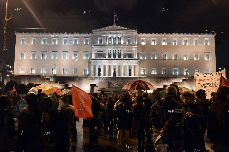 Anti-government protests in Athens, Greece.